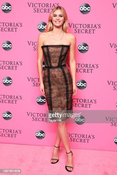 Megan Williams attends the 2018 Victoria's Secret Fashion Show Viewing Party at Spring Studios on December 2, 2018 in New York City.
