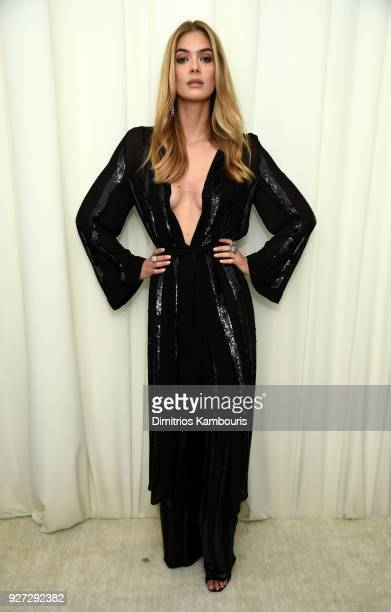 Megan Williams attends the 26th annual Elton John AIDS Foundation Academy Awards Viewing Party sponsored by Bulgari celebrating EJAF and the 90th...