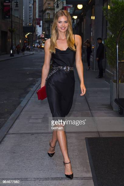 Megan Williams attends the US book launch of 'Backstage Secrets by Russell James' at the Alley Cat in the Financial District on May 31 2018 in New...