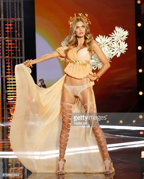 Megan Williams walks the runway during the 2017 Victoria's Secret Fashion Show at MercedesBenz Arena on November 20 2017 in Shanghai China