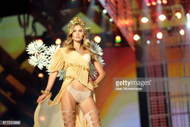 Megan Williams walks the runway during the 2017 Victoria's Secret Fashion Show In Shanghai at MercedesBenz Arena on November 20 2017 in Shanghai China