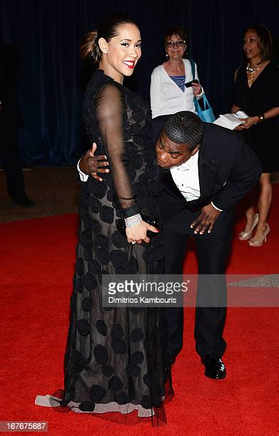 Megan Wollover and actor Tracy Morgan attend the White House Correspondents' Association Dinner at the Washington Hilton on April 27 2013 in...