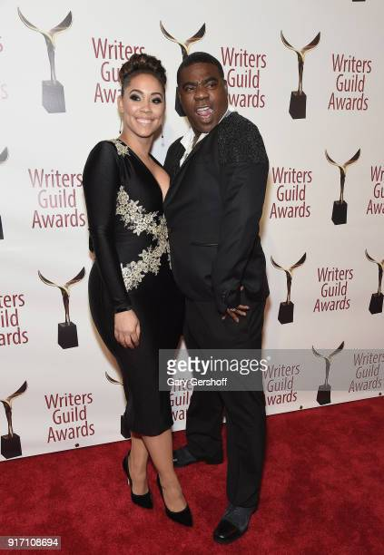 Megan Wollover and Tracy Morgan attend the 2018 Writers Guild Awards at Edison Ballroom on February 11 2018 in New York City