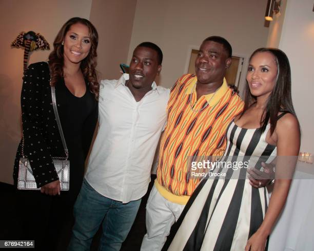 Megan Wollover Morgan Tracy Morgan Jr Tracy Morgan and Kerry Washington attend the 2017 The Bronx Children's Museum Gala at Tribeca Rooftop on May 2...