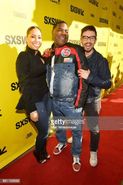 Megan Wollover Tracy Morgan and Jorma Taccone attend the 'The Last OG' Premiere 2018 SXSW Conference and Festivals at Paramount Theatre on March 12...