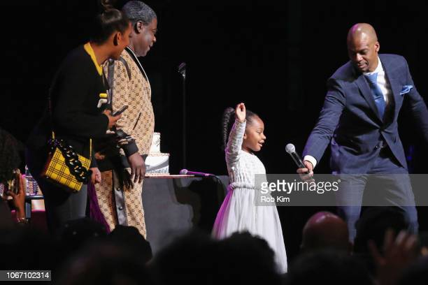 Megan Wollover Tracy Morgan Maven Sonae Morgan and Ardie Fuqua speak onstage at New York Comedy Festival at Beacon Theatre on November 10 2018 in New...