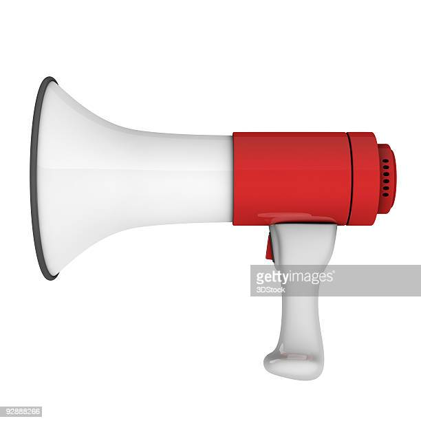 megaphone isolated on white background - megaphone stock pictures, royalty-free photos & images