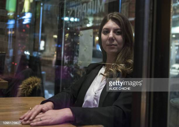 Megda Belkacemi who lost her father Khaled Belkacemi during the mosque attack on January 29 poses in Quebec City Canada on January 22 2019 Canadian...