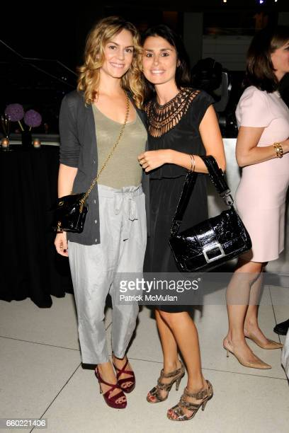 Meggan Crum and Florinka Pesenti attend LOUIS VUITTON 40th Anniversary of the Lunar Landing Tribute Event at Rose Center for Earth and Space on July...