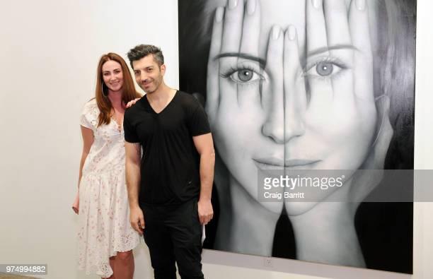 Meggan Guberman and Tigran Tsitoghdzyan attend the Tigran Tsitoghdzyan 'Uncanny' show at Allouche Gallery on June 14 2018 in New York City