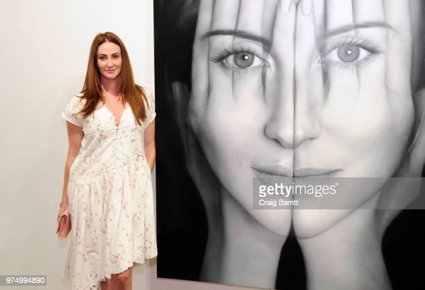 Meggan Guberman attends the Tigran Tsitoghdzyan Uncanny show at Allouche Gallery on June 14 2018 in New York City