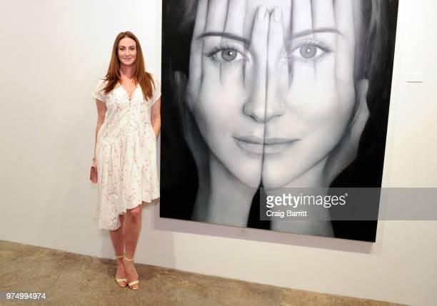 Meggan Guberman attends the Tigran Tsitoghdzyan 'Uncanny' show at Allouche Gallery on June 14 2018 in New York City