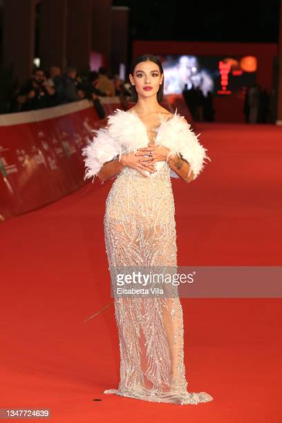 """Megghi Galo attends the red carpet of the movie """"Caterina Caselli - Una Vita, Cento Vite"""" during the 16th Rome Film Fest 2021 on October 20, 2021 in..."""