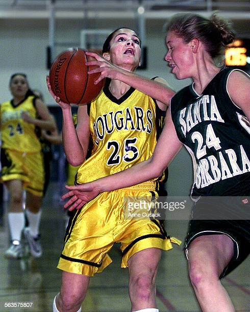 25 Meggie Wagner from Ventura High School prepares to schoot as Sasha Pack from Santa Barbara tries to bloack in game action at Ventura High School