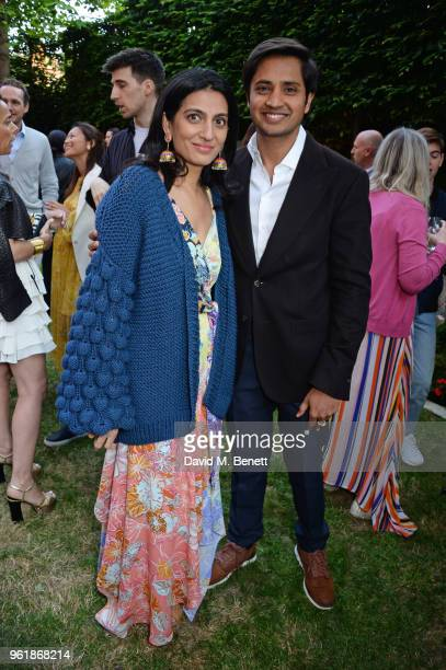 Megha Mittal and Aditya Mittal attend the 2018 BFC Fashion Trust grant recipients announcement hosted by Megha Mittal on May 23 2018 in London England