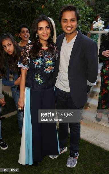 Megha Mittal and Aditya Mittal attend the British Fashion Council's 2017 Fashion Trust grant recipients announcement on May 24 2017 in London England