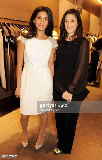 Megha Mittal and Fatima Bhutto attend the ESCADA/Harper's Bazaar book reading with Fatima Bhutto reading from her novel The Shadow Of The Crescent...