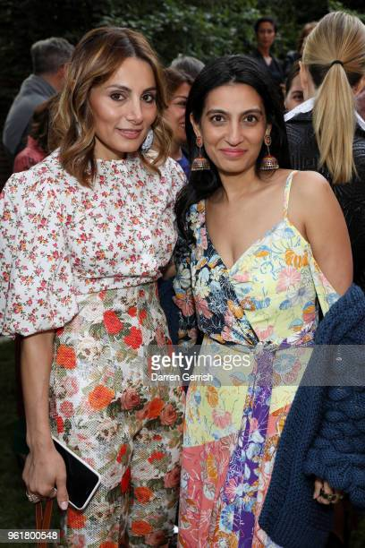 Megha Mittal and Narmina Marandi attend the 2018 Fashion Trust Grant Recipients Announcement on May 23 2018 in London England