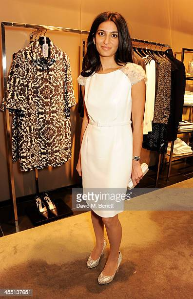 Megha Mittal attends the ESCADA/Harper's Bazaar book reading with Fatima Bhutto reading from her novel The Shadow Of The Crescent Moon at the ESCADA...