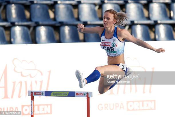 Meghan Beesley from Great Britain & Northern Ireland competes in womens 400 meters hurdles while European Athletics Team Championships Super League...