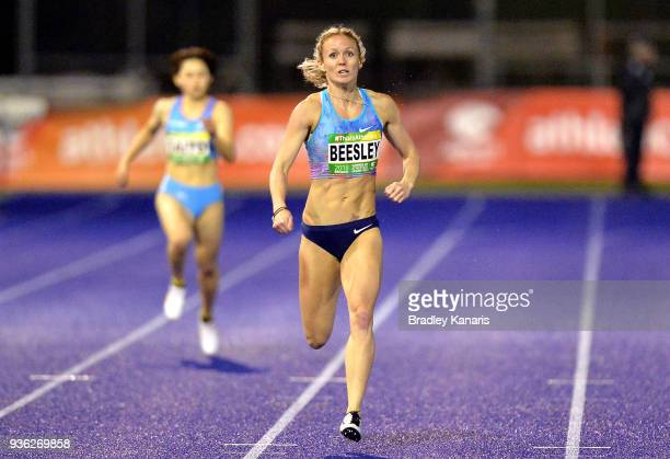 Meghan Beesley of Great Britain competes in the Women's 400m event during the Summer of Athletics Grand Prix at QSAC on March 22 2018 in Brisbane...
