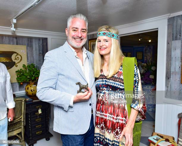 Meghan Boody and Sean Sullivan attend ARF Thrift Shop Designer Show House Sale at ARF Thrift Treasure Shop on May 26 2018 in Sagaponack New York