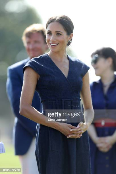 Meghan Duchess of attends the Sentebale Polo 2018 held at the Royal County of Berkshire Polo Club on July 26 2018 in Windsor England