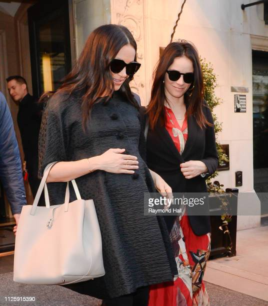 Meghan Duchess of Sussex and Abigail Spencer are seen in the Upper East Side on February 19 2019 in New York City