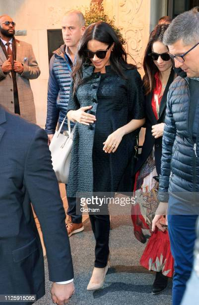 Meghan Duchess of Sussex and Abigail Spencer go for lunch on February 19 2019 in New York City
