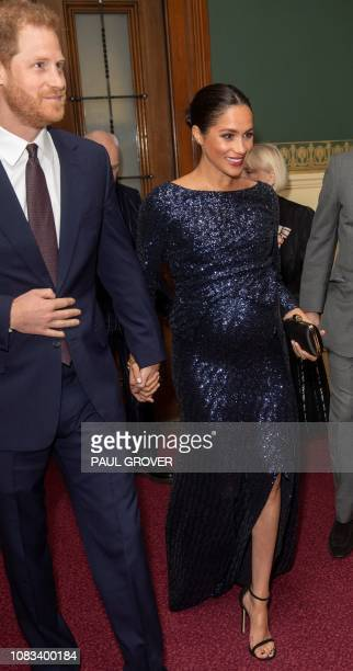 Meghan Duchess of Sussex and Britain's Prince Harry Duke of Sussex attend the premiere of Cirque du Soleil's Totem in support of Sentebale at the...
