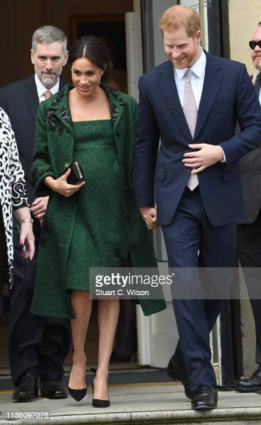 Meghan Duchess Of Sussex and Harry Duke of Sussex attend a Commonwealth Day Youth Event at Canada House on March 11 2019 in London England The event...