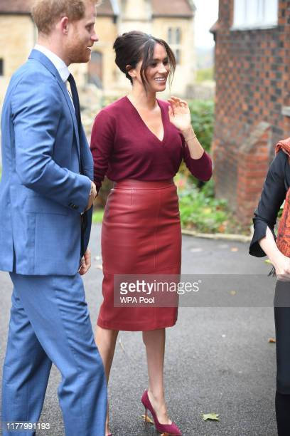 Meghan Duchess of Sussex and Prince Harry Duke of Sussex attend a roundtable discussion on gender equality with The Queens Commonwealth Trust and One...