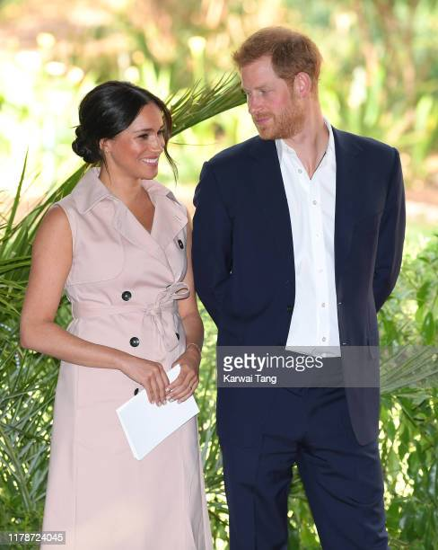 Meghan, Duchess of Sussex and Prince Harry, Duke of Sussex attend a reception to celebrate the UK and South Africa's important business and...