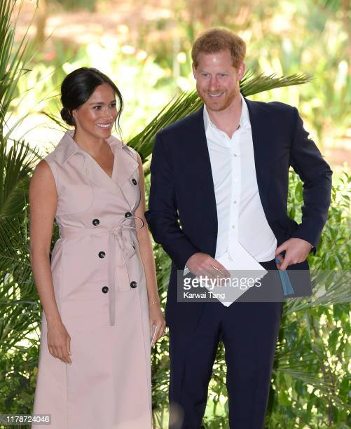Meghan Duchess of Sussex and Prince Harry Duke of Sussex attend a reception to celebrate the UK and South Africa's important business and investment...