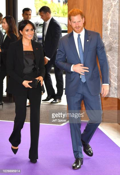 Meghan Duchess of Sussex and Prince Harry Duke of Sussex attend the WellChild Awards at the Royal Lancaster Hotel on September 4 2018 in London...