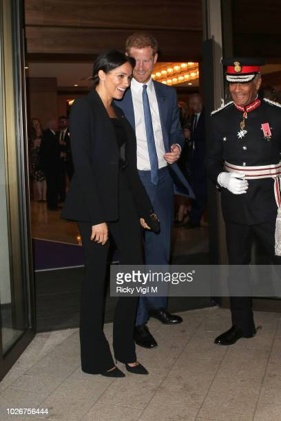 Meghan Duchess of Sussex and Prince Harry Duke of Sussex attend the WellChild Awards at Royal Lancaster Hotel on September 4 2018 in London England