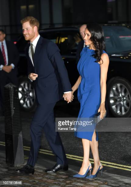 Meghan Duchess of Sussex and Prince Harry Duke of Sussex attend the '100 Days To Peace' concert to commemorate the centenary of the end of the First...