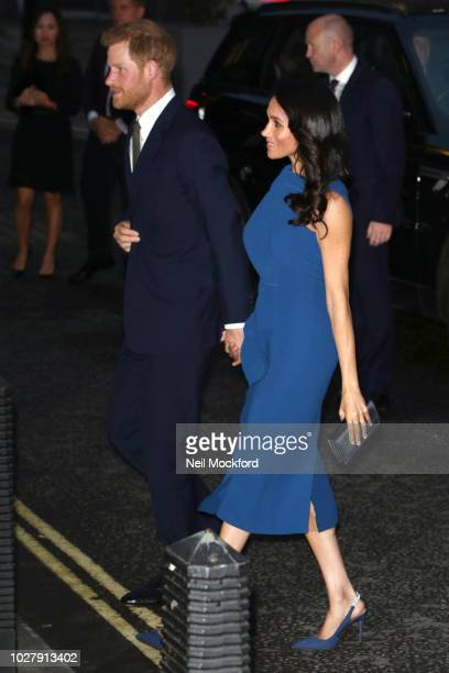 Meghan Duchess of Sussex and Prince Harry Duke of Sussex attend the '100 days of peace' concert to commemorate the centenary of the end of the First...