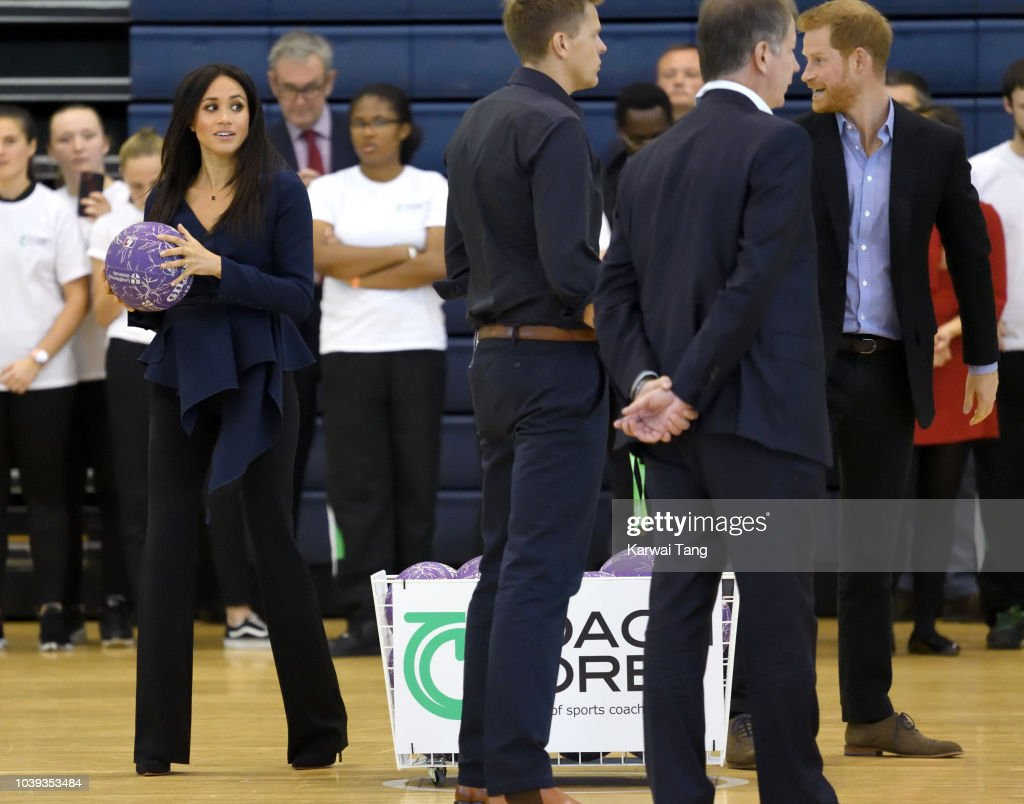 The Duke And Duchess Of Sussex Attend The Coach Core Awards : News Photo