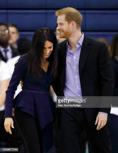 Meghan Duchess of Sussex and Prince Harry Duke of Sussex attend the Coach Core Awards held at Loughborough University on September 24 2018 in...
