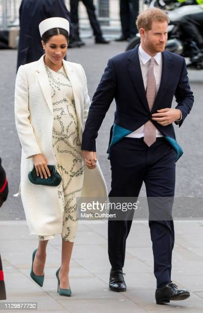 Meghan, Duchess of Sussex and Prince Harry, Duke of Sussex attend the Commonwealth Day Service at Westminster Abbey on March 11, 2019 in London,...