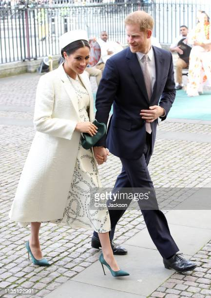 Meghan, Duchess of Sussex and Prince Harry, Duke of Sussex attend the Commonwealth Service on Commonwealth Day at Westminster Abbey on March 11, 2019...