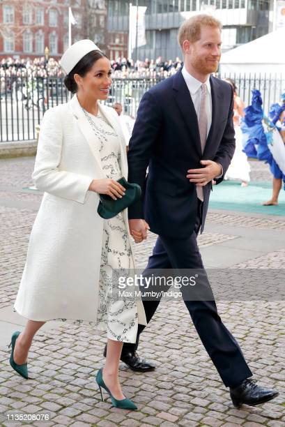 Meghan Duchess of Sussex and Prince Harry Duke of Sussex attend the 2019 Commonwealth Day service at Westminster Abbey on March 11 2019 in London...