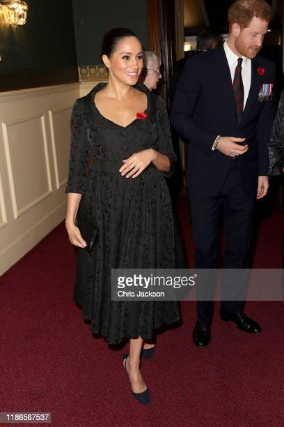 Meghan Duchess of Sussex and Prince Harry Duke of Sussex attend the annual Royal British Legion Festival of Remembrance at the Royal Albert Hall on...