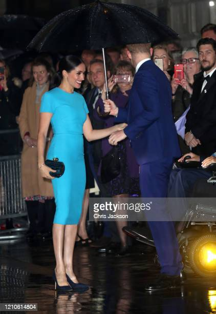 Meghan Duchess of Sussex and Prince Harry Duke of Sussex attend The Endeavour Fund Awards at Mansion House on March 05 2020 in London England