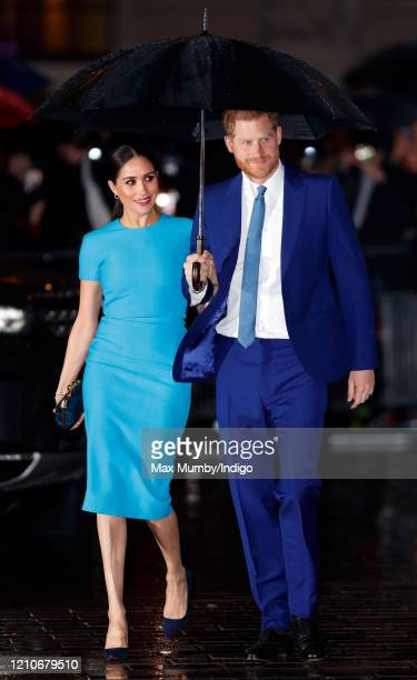 Meghan, Duchess of Sussex and Prince Harry, Duke of Sussex attend The Endeavour Fund Awards at Mansion House on March 5, 2020 in London, England.