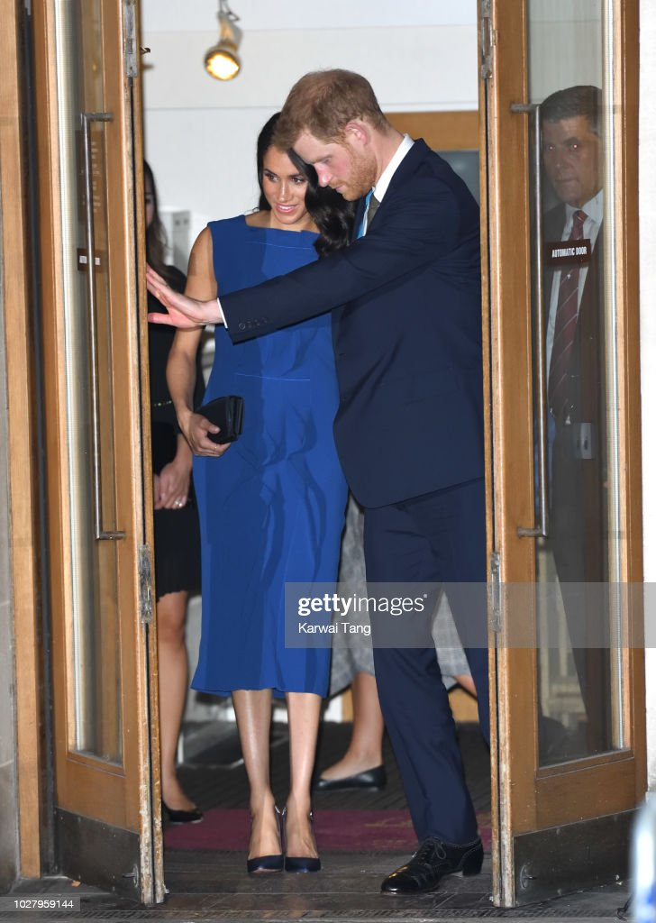 Meghan, Duchess of Sussex and Prince Harry, Duke of Sussex depart after attending the '100 Days To Peace' concert to commemorate the centenary of the end of the First World War at Central Hall Westminster on September 6, 2018 in London, England. The evening will benefit three mental health charities 'Help for Heroes', 'Combat Stress' and 'Heads Together'.