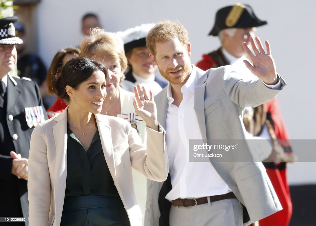 The Duke & Duchess Of Sussex Visit Sussex : News Photo