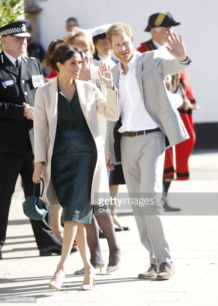 Meghan, Duchess of Sussex and Prince Harry, Duke of Sussex make an official visit to Sussex on October 3, 2018 in Chichester, United Kingdom. The...