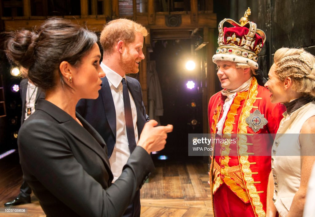 The Duke & Duchess Of Sussex Attend A Gala Performance Of 'Hamilton' In Support Of Sentebale : News Photo
